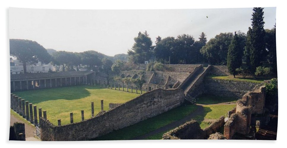 Gladiators Hand Towel featuring the photograph Arcaded Court Of The Gladiators Pompeii by Marna Edwards Flavell