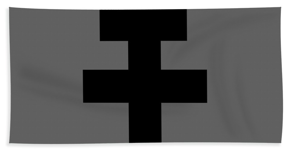 Religion Hand Towel featuring the digital art Croix De Lorraine by Frederick Holiday