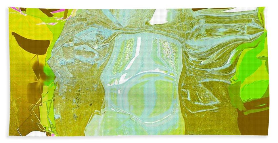 Abstract Bath Sheet featuring the digital art Archer by Elisabeth Skajem Atter