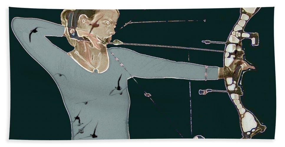 Archery Bath Sheet featuring the photograph Archer by Sara Stevenson