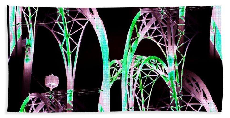Seattle Bath Sheet featuring the digital art Arches 3 by Tim Allen
