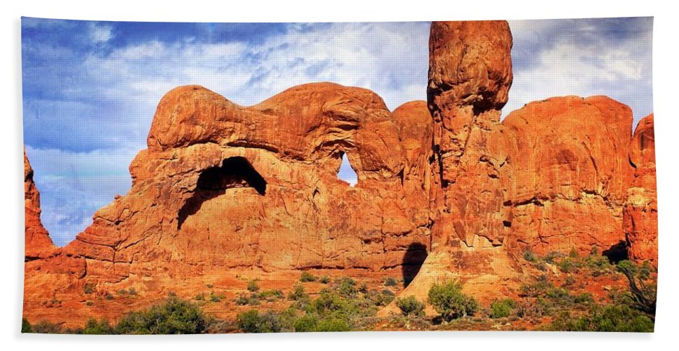 Arches National Park Bath Sheet featuring the photograph Arches Landscape 3 by Marty Koch