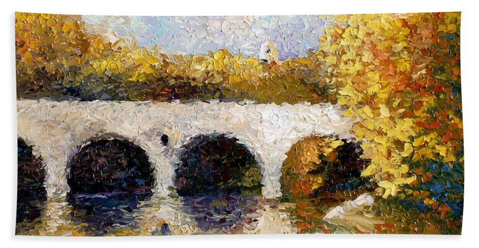 Landscape Bath Sheet featuring the painting Arches by Lewis Bowman