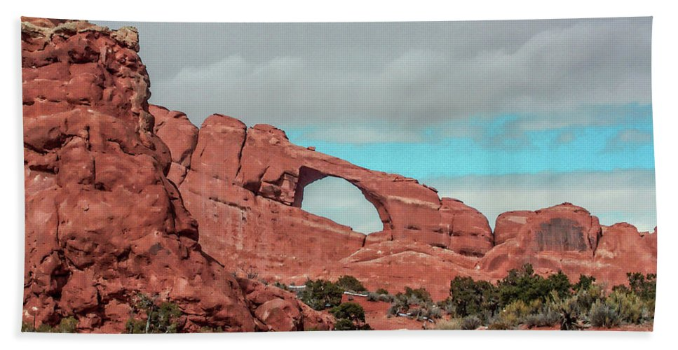 Arches National Park Hand Towel featuring the photograph Arches National Park 1 by Tommy Anderson