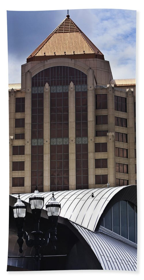 Architecture Bath Sheet featuring the photograph Architectural Differences Roanoke Virginia by Teresa Mucha