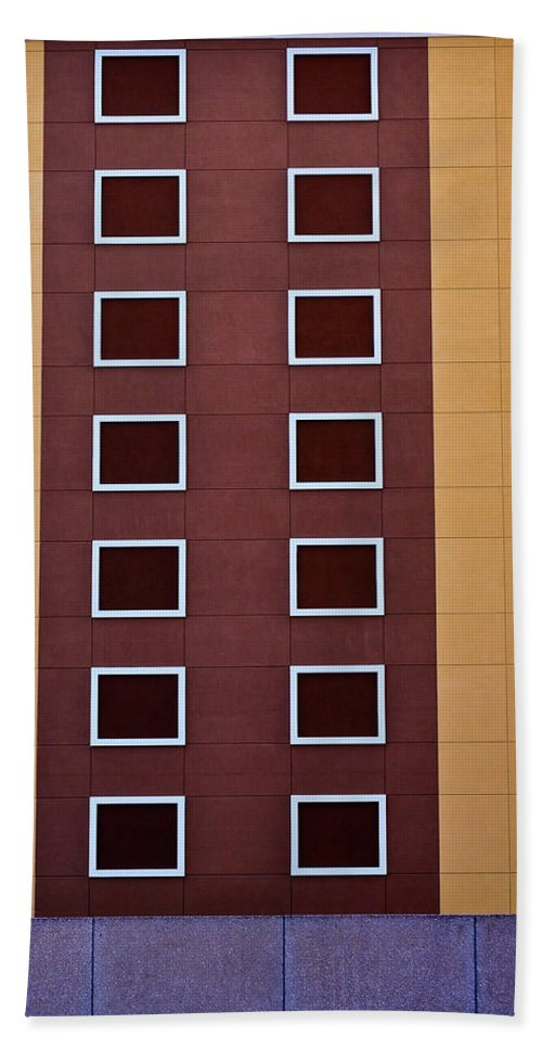 Window Hand Towel featuring the photograph Architectural Geometry by Frances Hattier