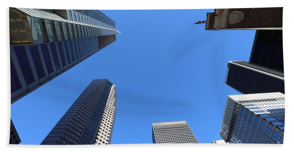 Architectural Bath Sheet featuring the photograph Architecture Tall Color Buildings by Chuck Kuhn