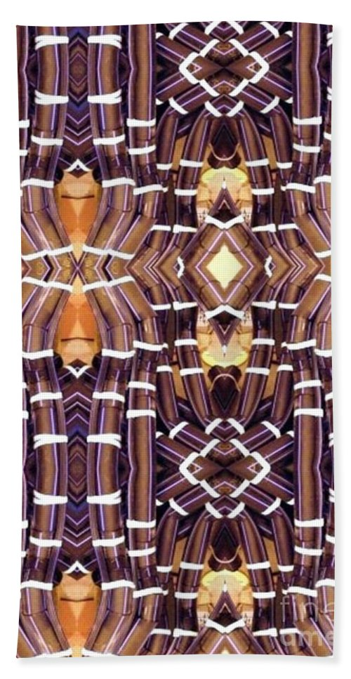 Abstract Bath Towel featuring the digital art Arctic Pipe by Ron Bissett