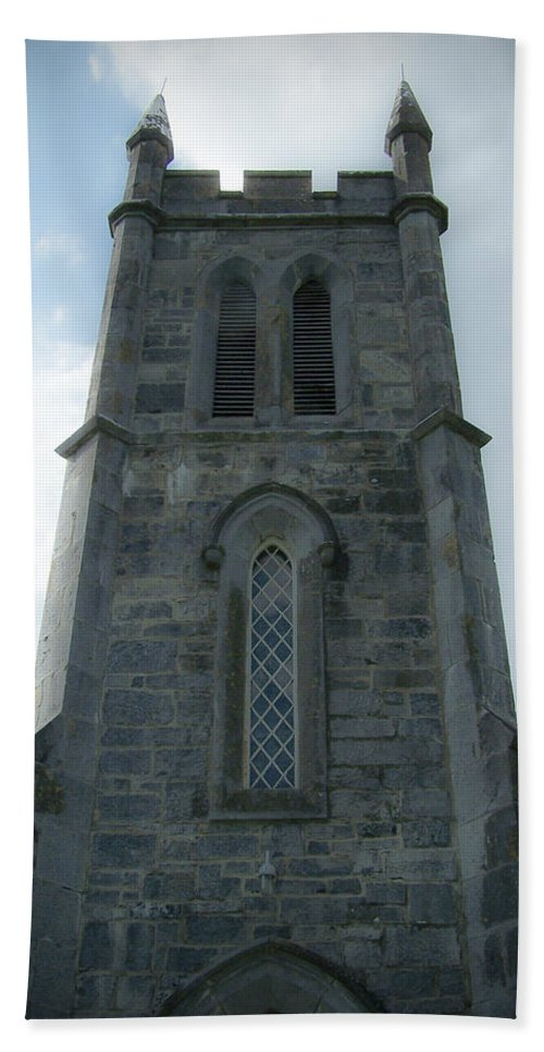 Irish Bath Towel featuring the photograph Ardcroney Church County Clare Ireland by Teresa Mucha