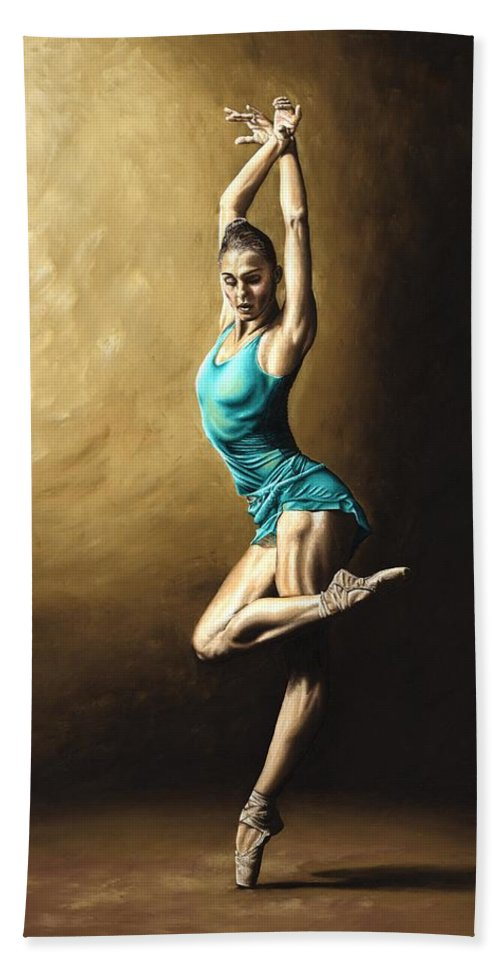 Dance Hand Towel featuring the painting Ardent Dancer by Richard Young