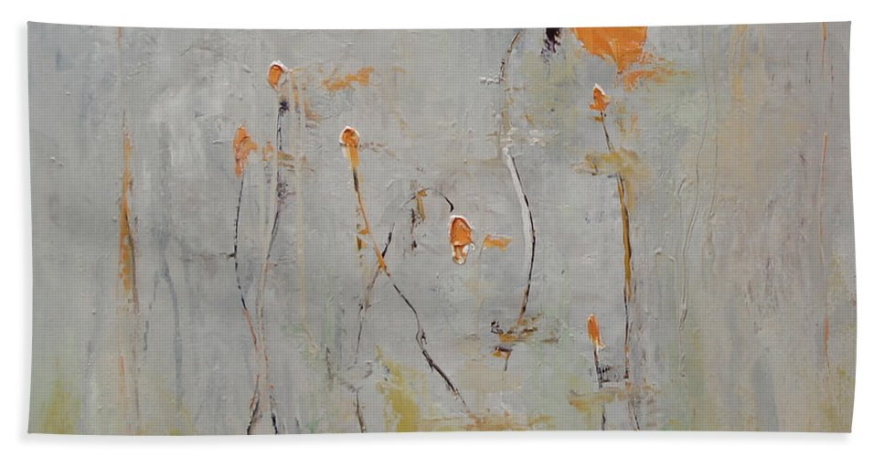 Floral Bath Towel featuring the painting Aria by Barbara Andolsek