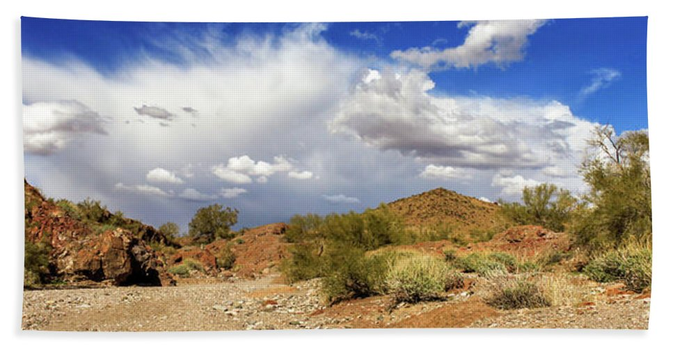 Landscape Hand Towel featuring the photograph Arizona Clouds by James Eddy