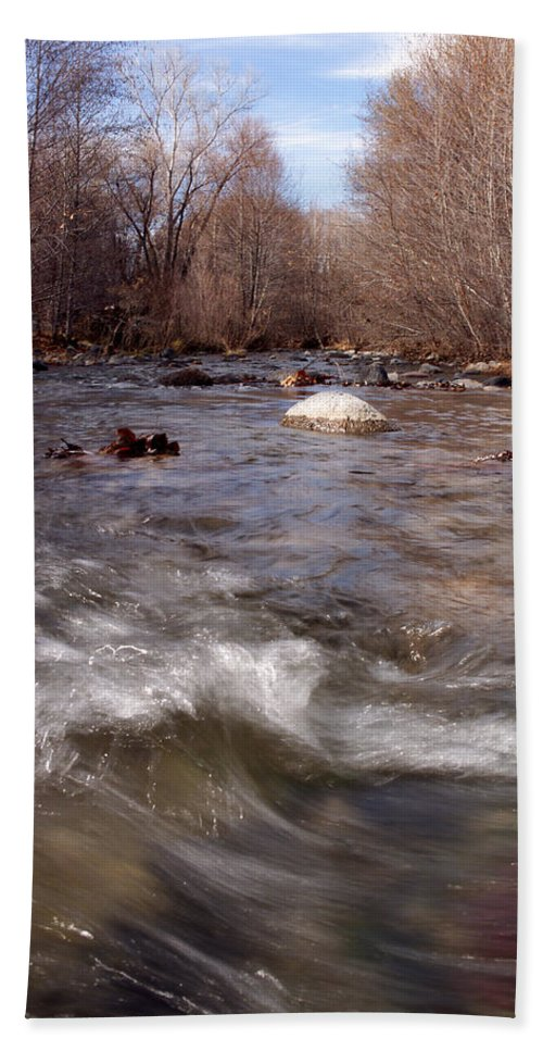 Creek Bath Sheet featuring the photograph Arizona Creek by Scott Sawyer