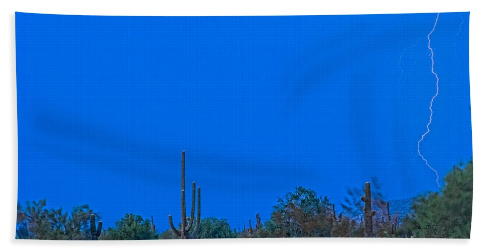 Arizona Bath Sheet featuring the photograph Arizona Desert Landscape by James BO Insogna