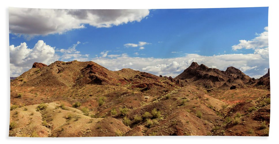 Landscape Hand Towel featuring the photograph Arizona Hills by James Eddy