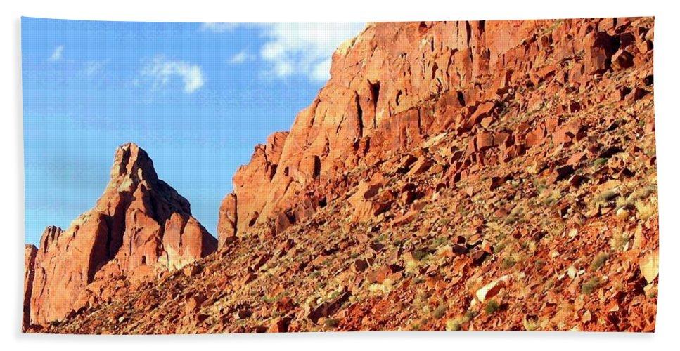 Arizona Hand Towel featuring the photograph Arizona Sandstone by Will Borden