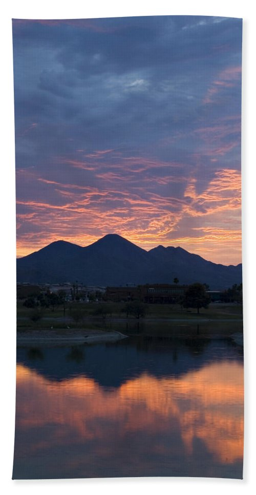 Arizona Hand Towel featuring the photograph Arizona Sunset 2 by Renee Hong
