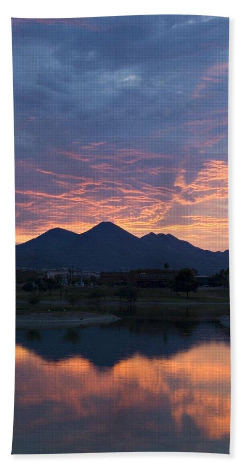 Arizona Bath Sheet featuring the photograph Arizona Sunset 2 by Renee Hong