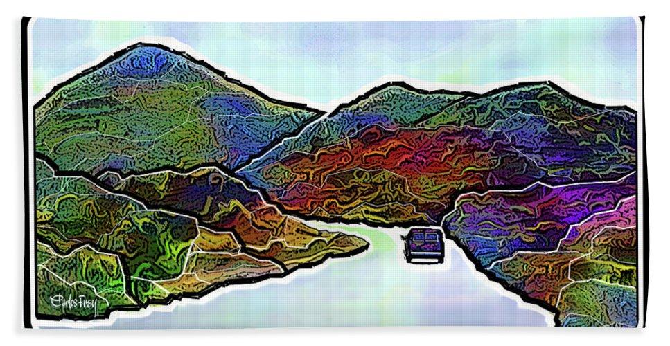Arizona Hand Towel featuring the digital art Arizona Trip by Carlos Frey