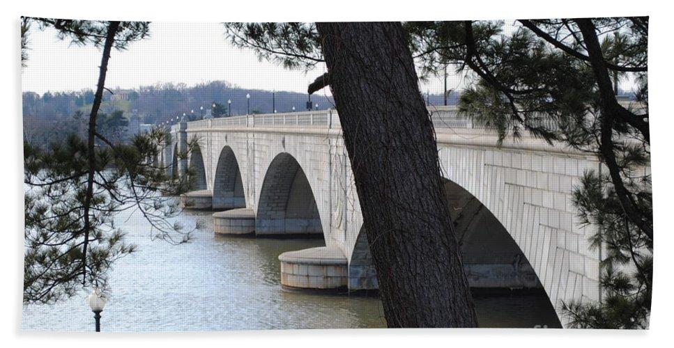 Washington Bath Sheet featuring the photograph Arlington Memorial Bridge by Jost Houk