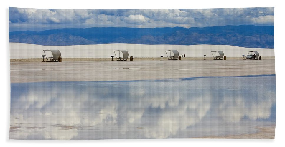 New Mexico Bath Sheet featuring the photograph Armageddon Picnic by Skip Hunt