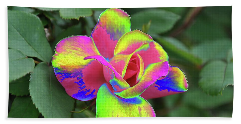 Array Of Color Bath Sheet featuring the photograph Array Of Color by Wanda-Lynn Searles