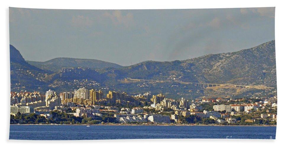 Split Croatia Bath Sheet featuring the photograph Arriving To Split by Elaine Berger