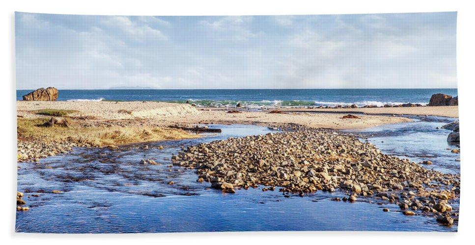 Beach Bath Sheet featuring the photograph Arroyo Sequit Creek - Steelhead Trout by Gene Parks
