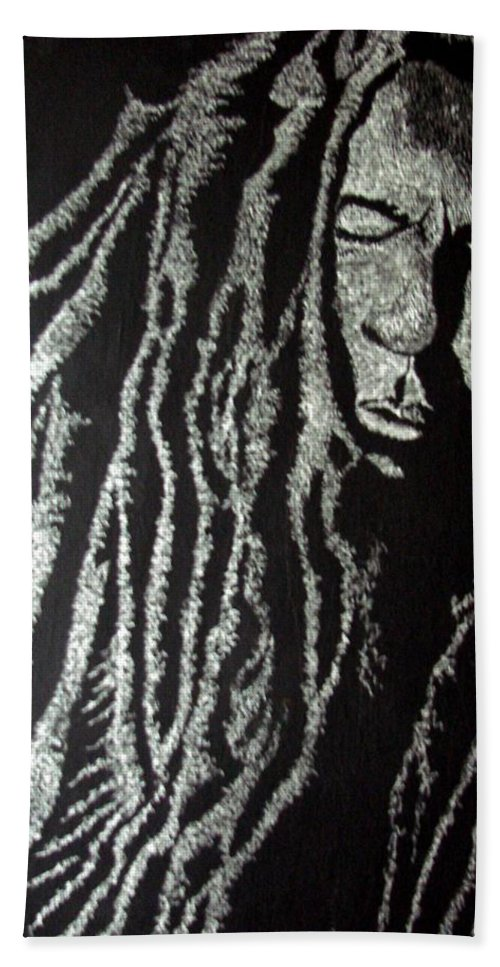 Portrait Hand Towel featuring the painting Art Of Freedom by Glory Fraulein Wolfe