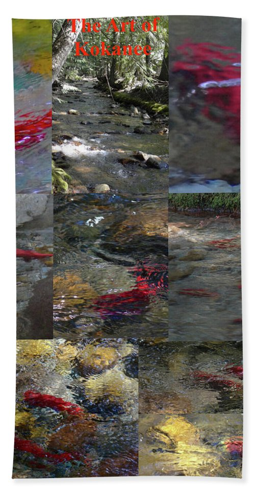 Hand Towel featuring the photograph Art Of Kokanee by Christopher Corpus
