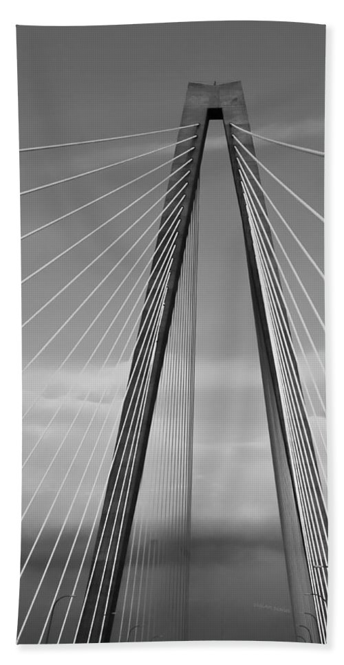 Bridge Bath Sheet featuring the photograph Arthur Ravenel Jr Bridge II by DigiArt Diaries by Vicky B Fuller