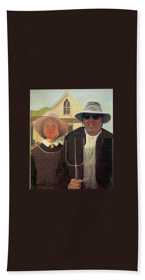 Artist Hand Towel featuring the painting Artist Eric Michael Schiabor by Eric Schiabor