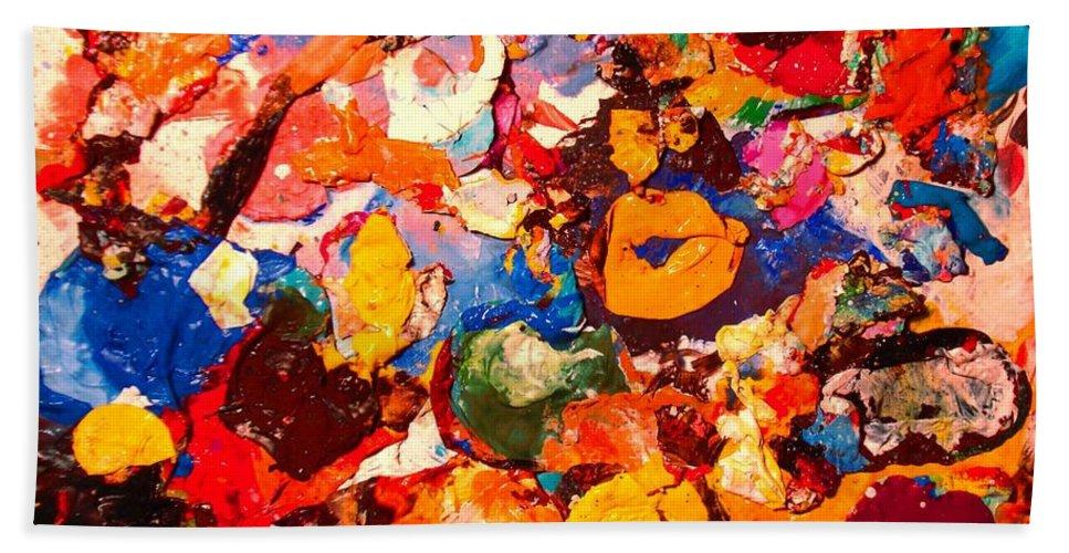 Artist Palette Bath Sheet featuring the painting Artist Palette by Natalie Holland