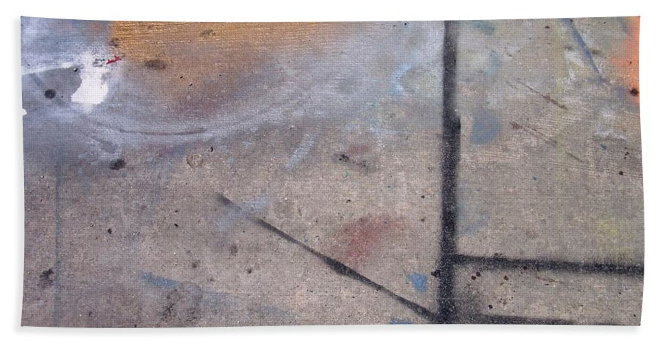 Artist Bath Towel featuring the photograph Artist Sidewalk 2 by Anita Burgermeister