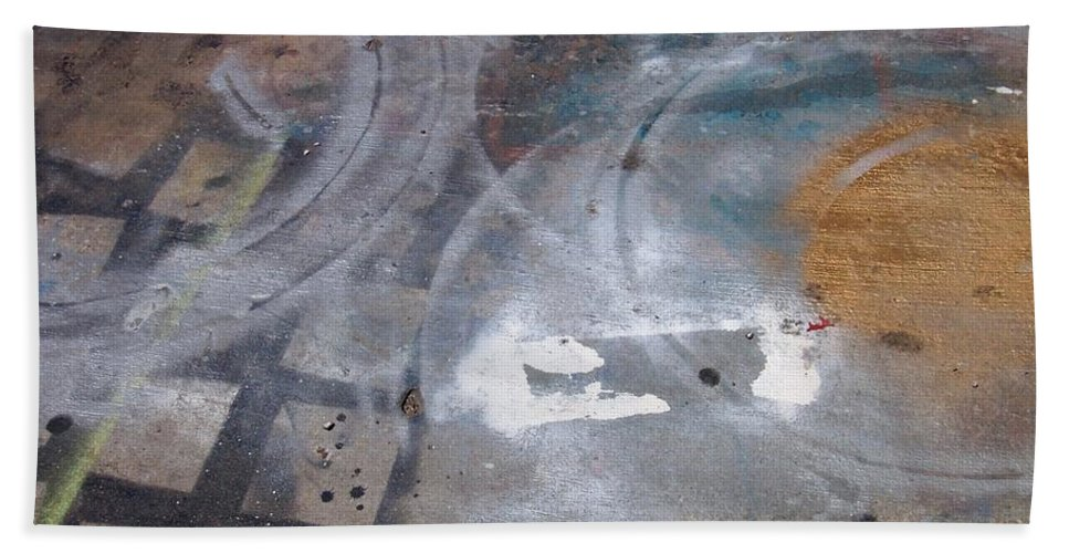 Artist Bath Towel featuring the photograph Artist Sidewalk 3 by Anita Burgermeister