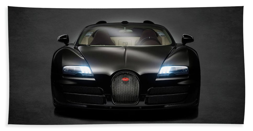 Bugatti Veyron Hand Towel featuring the photograph Bugatti Veyron by Mark Rogan