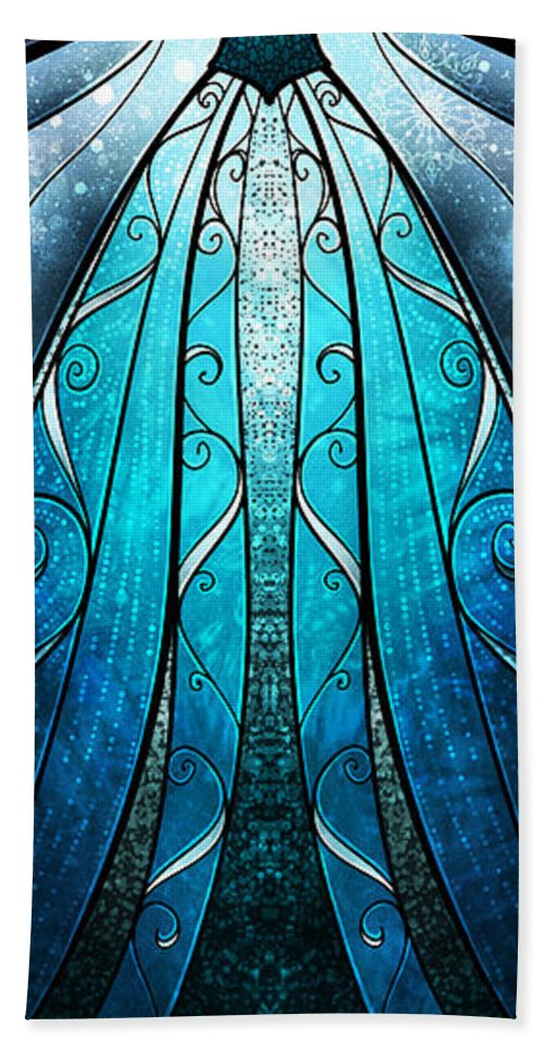 Snow Queen Hand Towel featuring the digital art The Snow Queen by Mandie Manzano