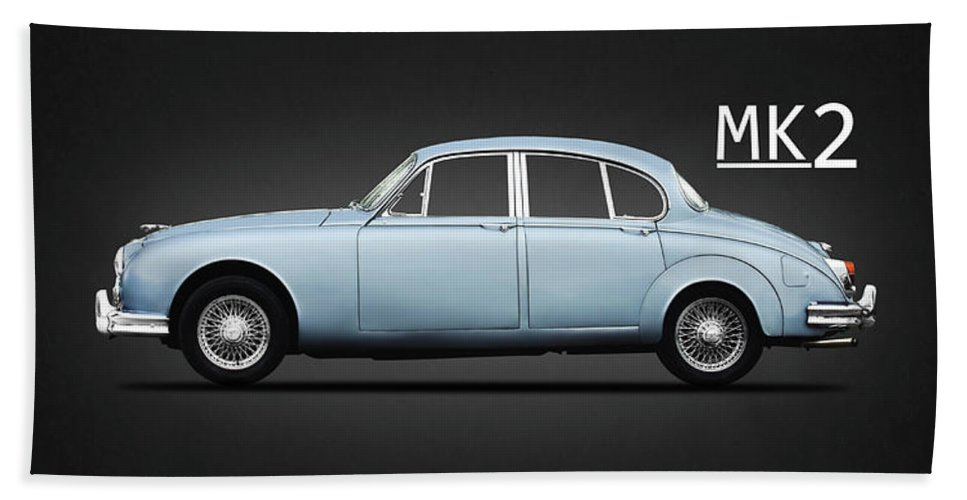 Jaguar Mk2 Hand Towel featuring the photograph Jaguar Mk2 by Mark Rogan