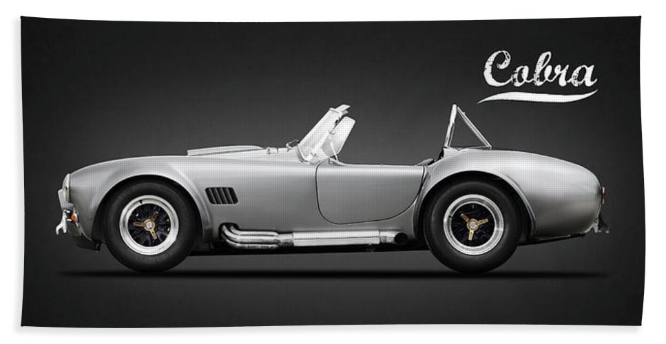 Shelby Cobra Hand Towel featuring the photograph Shelby Cobra 427 Sc 1965 by Mark Rogan