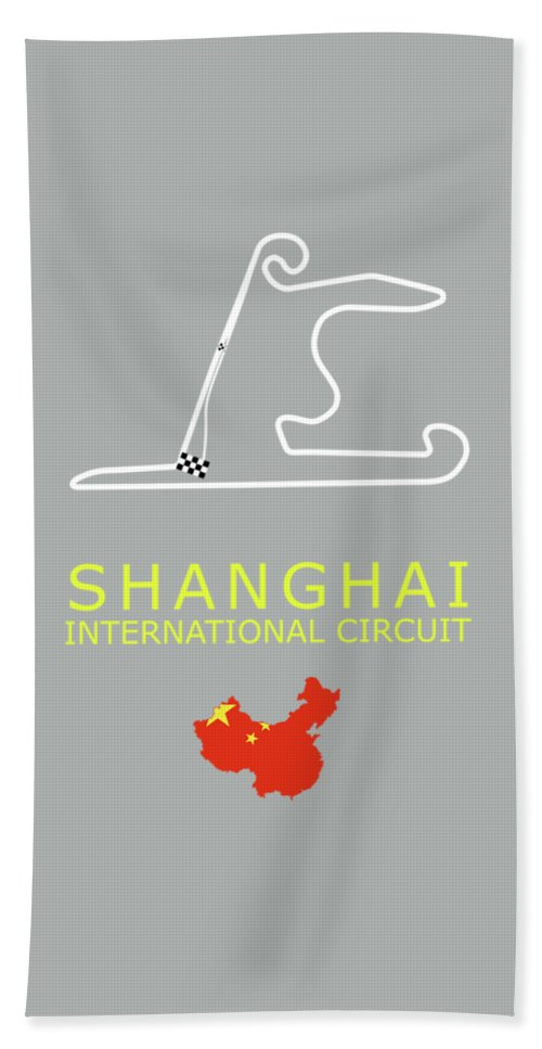 Shanghai Circuit Hand Towel featuring the photograph Shanghai Circuit by Mark Rogan