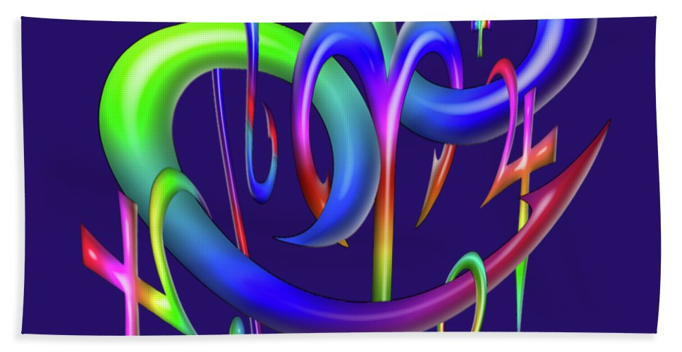 Interior Decoration Bath Sheet featuring the digital art Sinful by Aston Pershing
