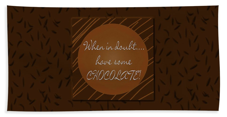 Chocolate Bath Sheet featuring the painting Chocolate by Methune Hively
