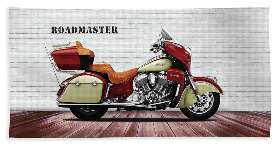 Indian Roadmaster Bath Towel featuring the photograph The Roadmaster by Mark Rogan