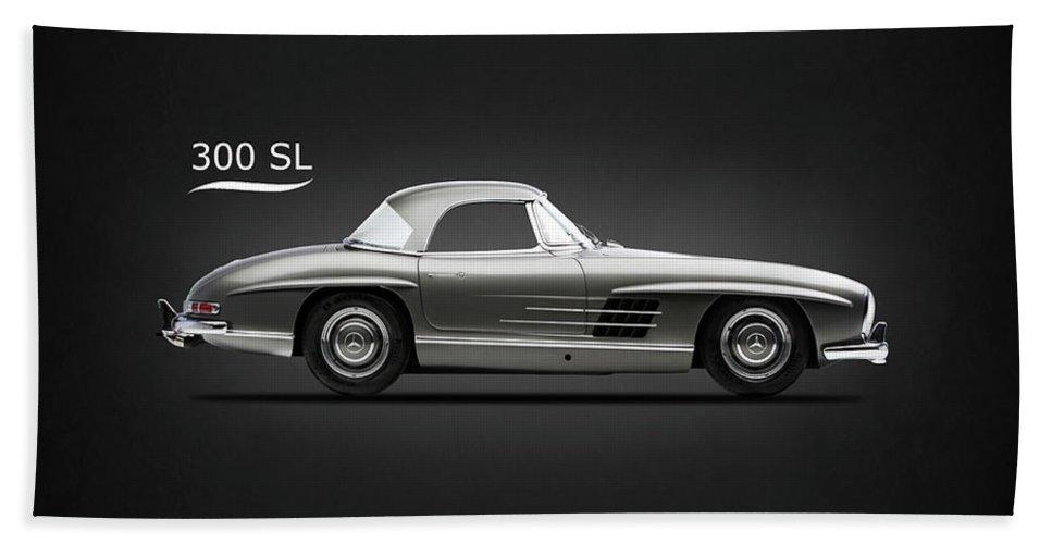 Mercedes Hand Towel featuring the photograph Merc 300 Sl 1961 by Mark Rogan