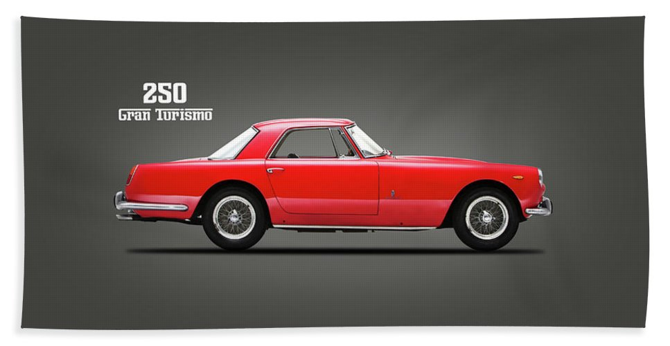 Ferrari 250 Hand Towel featuring the photograph Ferrari 250 Gt 1959 by Mark Rogan