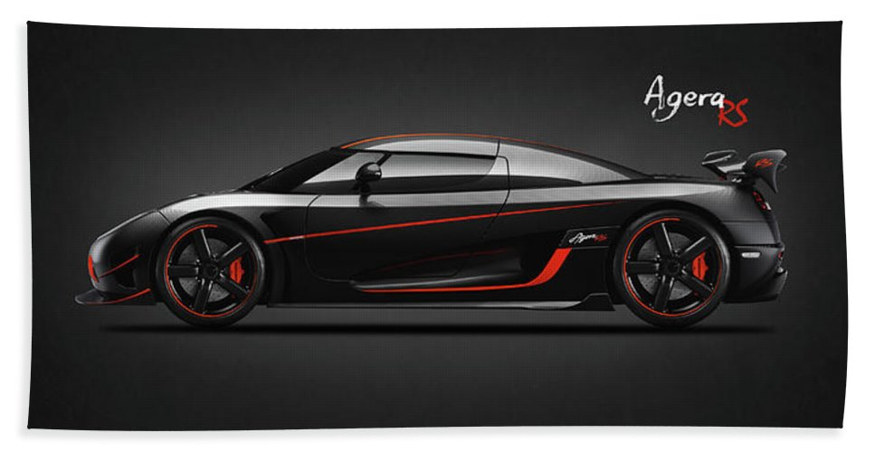 Koenigsegg Agera Hand Towel featuring the photograph The Agera Rs by Mark Rogan