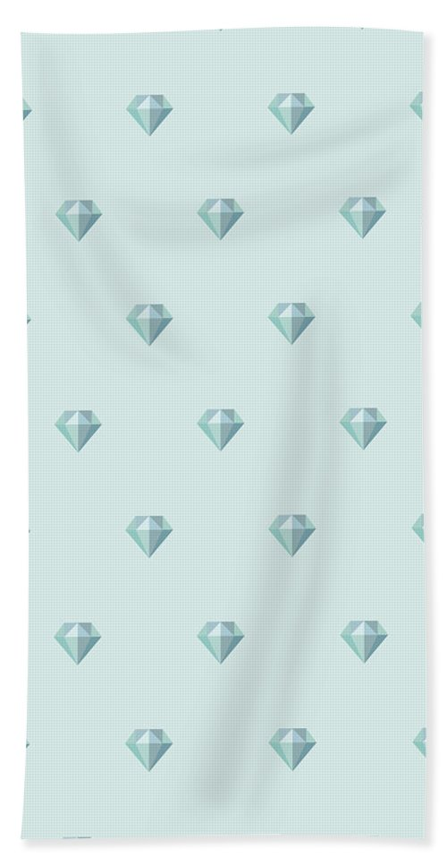 Background Hand Towel featuring the drawing Pattern With Diamonds by Alina Krysko