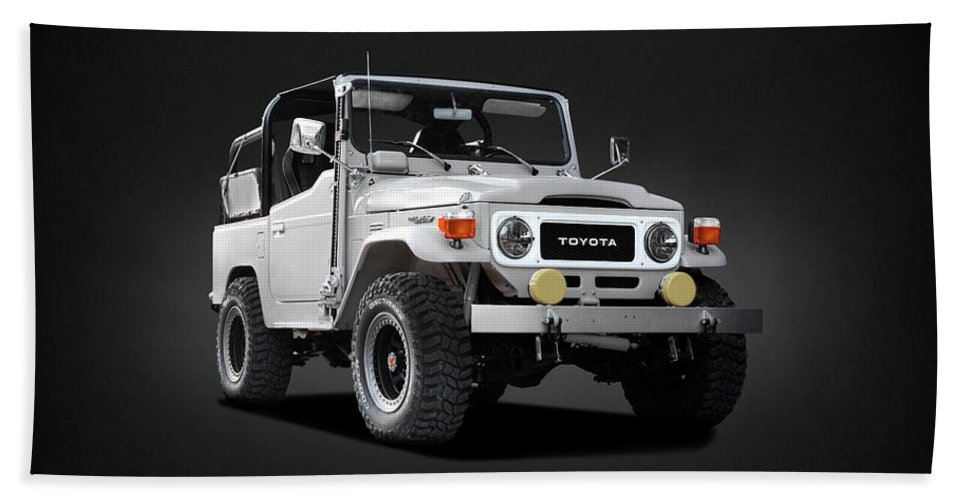 Land Cruiser Bj40 Bath Towel featuring the photograph The Land Cruiser by Mark Rogan