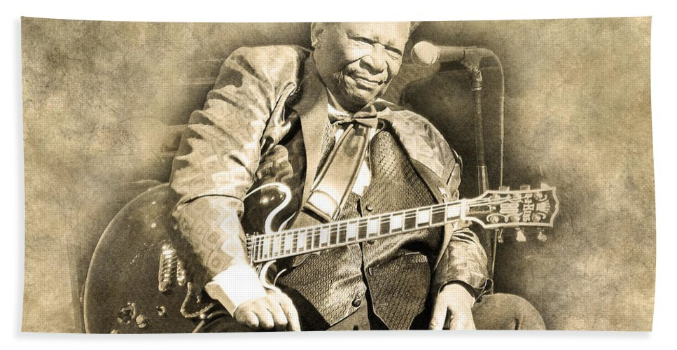Bb King Hand Towel featuring the digital art Blues Boy by Anthony Murphy