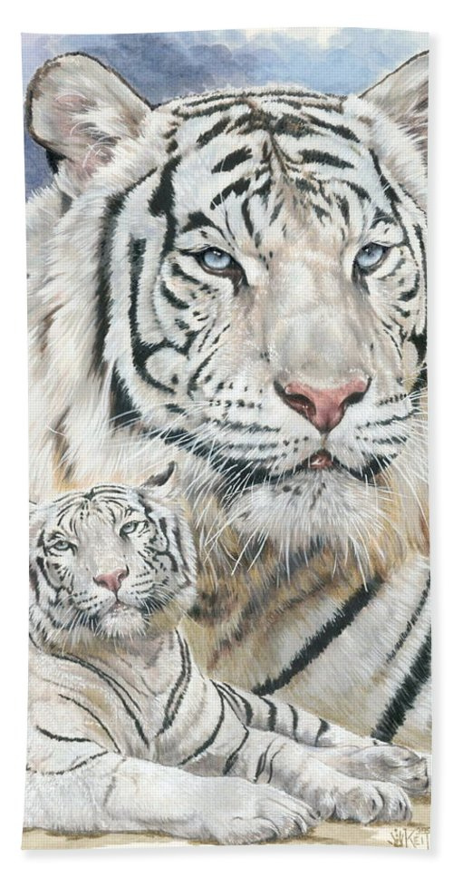 Big Cat Hand Towel featuring the mixed media Dignity by Barbara Keith